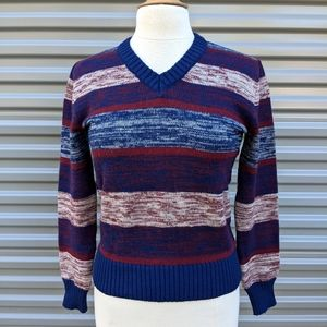 Perfect VTG 70s Acrylic Stripe Sweater